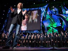 "TED2013 - First live virtual choir singing Eric Whitacre's ""Cloudburst"""