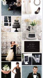 Elegant Black + White Wedding Inspiration