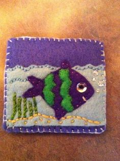 Made this for waggonswest in the felt badge swap