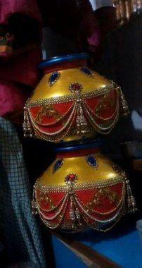 I advise more details on Marriage Ideas Kalash Decoration, Thali Decoration Ideas, Diy Diwali Decorations, Garden Wedding Decorations, Wedding Crafts, Festival Decorations, Hanging Decorations, Coconut Decoration, Wedding Gift Wrapping