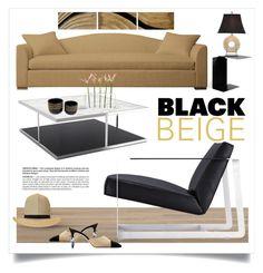 """Black & Beige Decor"" by ivansyd ❤ liked on Polyvore featuring interior, interiors, interior design, home, home decor, interior decorating, Modloft, ClassiCon, Giorgio Armani and NOVICA"