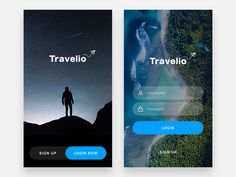 Exploration - Travelio Login Screen by Aji