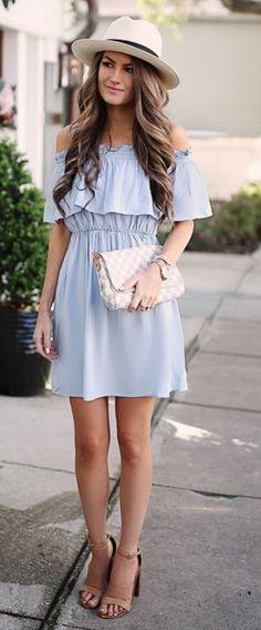 Shoulder Dress  #Fashion #Style #Beauty #Moda #Dress