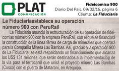 La Fiduciaria: Operación 900 en el diario Del País de Perú (09/02/16)