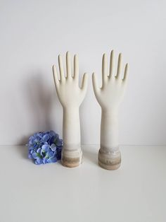 Vintage Porcelain Glove Mold, Hand Form Display, Industrial, Size Medium by RetroEnvy21 on Etsy