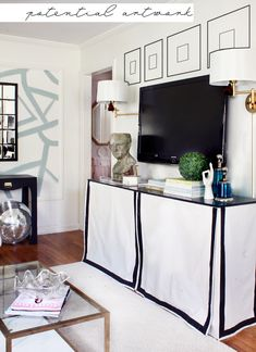 wall painting, disco ball, vignette, table cloth, domino mag, brass table :)