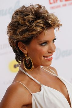 Sylvie van der Vaart Short Curls - Short Hairstyles Lookbook - StyleBistro