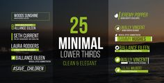 Lower Thirds by AeMar 25 Minimal Lower Thirds Description & FeaturesFull HD (1920x1080) resolution Compatible with After Effects CS5, CS5.5, CS6 or CC.