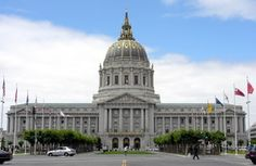 classical exterior of San Francisco City Hall - CA, USA.