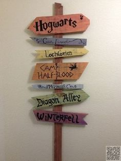 34. #signpost - 60 idées pour une #soirée à thème #Harry Potter... → DIY