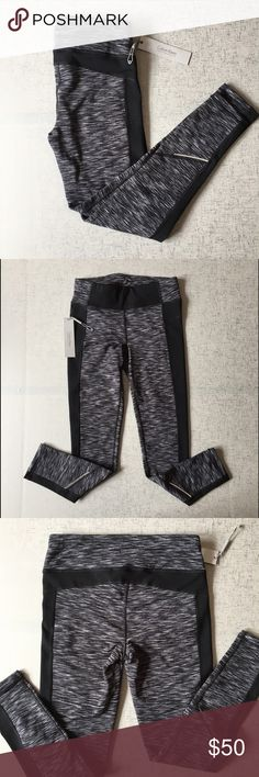 "Calvin Klein Performance Leggings Black and gray designed leggings. Thin fleece inner lining as pictured. Inseam approximately 26 1/2"". 86% polyester, 14% spandex. Calvin Klein Pants Leggings"