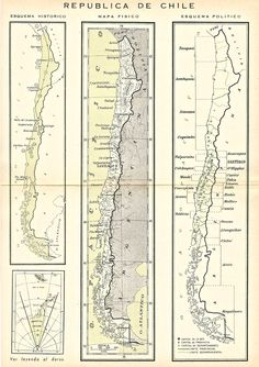 1952 Maps of Chile (in Spanish) found in the Enciclopedia Escolar.