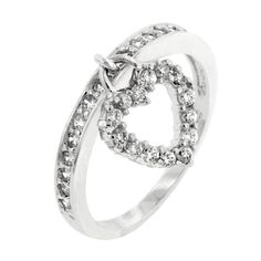 Simple Heart Charm Ring Size 9
