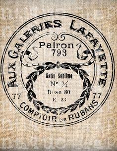 Antiquariato francese Parigi etichetta Negozio di AntiqueGraphique