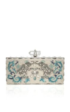 Marchesa Simonetta Embroidered Clutch with Elephant Motif