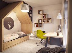 Home Tour: um loft matador House Beds For Kids, Teenage Room, Kid Spaces, Cozy House, Loft, Decoration, House Tours, Kids Bedroom, House Design