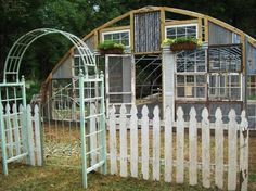 "A Fantastical Flea Market Green house Kathy Gilbert lives in Louisiana, owns a business called Nature's Hideaway Nursery and Gardens. She loves junking and gardening and her business is where she expresses this passion! She says, ""My greenhouse"