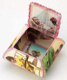 embroidered paper box
