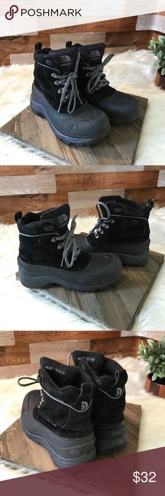 The North Face insulated waterproof Boots The North Face black insulated waterproof boots, used condition. The North Face Shoes Boots