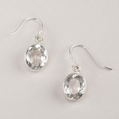 One of my favorite discoveries at WorldMarket.com: Crystal Drop Earrings