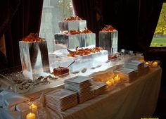 Perfect for a snow wedding, but what to use for a mold?  DIY Ice Sculptures