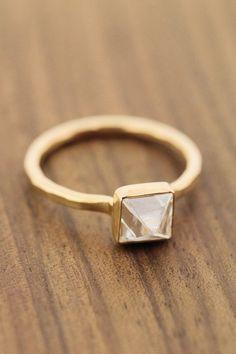 Melissa Joy Manning, 1 Carat Pyramid Diamond Ring