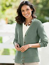 Twice The Texture V-Neck Cardigan and other Womens Cardigans at Appleseed?s. | Appleseeds-juniper#330