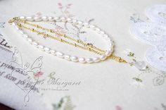 Ảnh trái tim. Nhập khẩu của thủy tinh thể giọt Moonlight cầu vồng tự nhiên nước ngọt gạo ngọc trai ngọc trai 14K vòng đeo tay vàng - Trạm toàn cầu Taobao