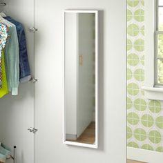 Symple Stuff Jewelry Cabinet with Mirror   Wayfair.co.uk Over The Door Mirror, Mirror Door, Modern Jewelry Box, Overmantle Mirror, Wall Shelves, Shelf, Space Saving, Floating Shelves, Storage Spaces
