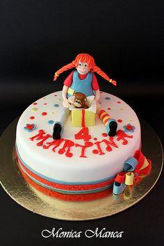 Pippi calzelunghe!Pippi Longstocking cake