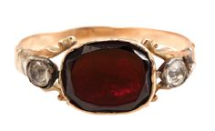 Georgian Garnet & Paste Ring