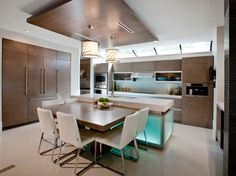 like the organic twig design on drum shades Clifside Residence - contemporary - kitchen - vancouver - VictorEric Design Group