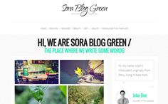 Sora Blog Green Blogger Template | High Quality Free Blogger Templates