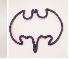 Décoration murale tricotin en forme de Batman : Décoration pour enfants par arretedebouder