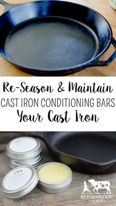 Learn How Using a Cast Iron Conditioning Bar to Season Your Skillet can keep your cast iron non-stick and glossy