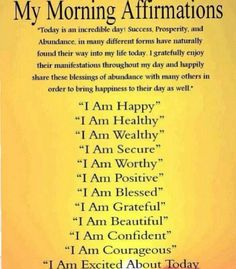 Affirmations - combine these with EFT tapping, and watch your life change. EFT dissolves all of the false negative blocks we put in the way ... I invite you to learn it totally for free, no sign up necessary! Just hop over to my site http://www.trulymadlydeeplyhappy.com #eft #happiness