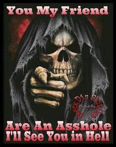 ☠skulls☠ The Reaper Hellboy Tattoo, Reaper Tattoo, Grim Reaper Art, Don't Fear The Reaper, Dark Fantasy Art, Dark Art, Art Harley Davidson, Totenkopf Tattoos, Skull Pictures