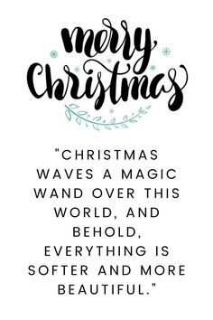 Merry Xmas quotes happy holidays for friends: Christmas waves a magic wand over this world, and behold, everything is softer and more beautiful. #MerryXmasQuotesSparkle #MerryXmasSMS #HappyHolidays Christmas Poems For Friends, Merry Christmas Quotes Jesus, Xmas Quotes, Merry Christmas Funny, Christmas Messages, Christmas Greetings, Happy Quotes, Inspirational Christmas Message, Love Sms