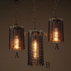 Yiman - Rust Iron Retro Pendant lamps YM5103-D1B - ceiling light - Yiman