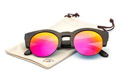 09ddea5e14 Cat Eye Bamboo Sunglasses - Black Frame Pink Lens