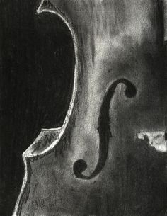 Love this charcoal drawing. #Cello side