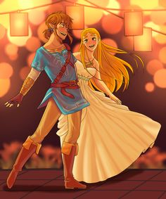Link and Zelda dancing togheter (ignore the lazy background plz ;-;)