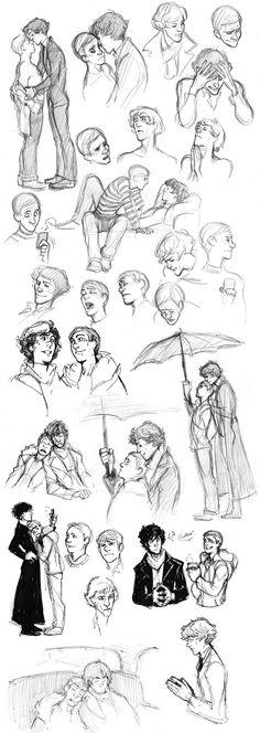 Sherlock BBC sketches 2 by MisterKay on deviantART