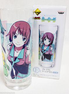 Bakemonogatari Nisemonogatari Premium Art Glass Hitagi Mayoi JAPAN ANIME