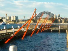Novel public artwork in #Sydney #Australia #travel reacts to wind & waves http://www.aussiebushadventures.com.au Pyrmont Point Park