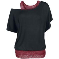 Lace Bat Double Layer - T-Shirt by Black Premium by EMP