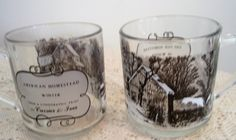 """Vintage Currier and Ives Cups with winter scenes.Currier and Ives""""American Homestead"""" and """"The Old Homestead in Winter"""" Collectors Mugs by SocialmarysTreasures on Etsy"""