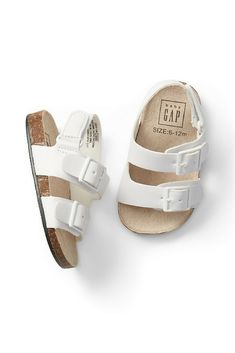 "Double-Buckle Sandals. Baby's first ""Birks"" look alike. Too cute! #ad #babygap #springshoes #babysandals"
