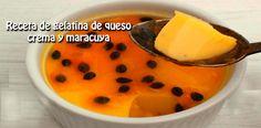 Receta de gelatina de queso crema y maracuya