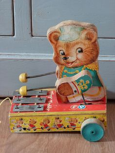 Tiny Teddy xylophone pull toy.